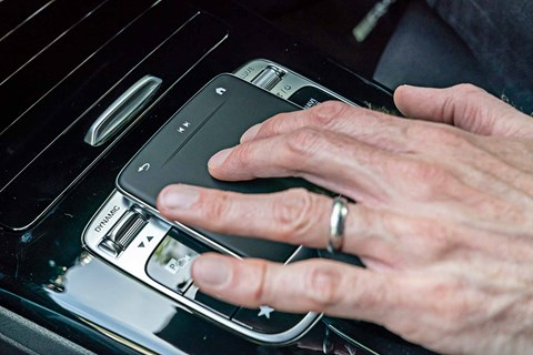 Central touchpad on Mercedes-Benz MBUX in the new 2018 A-Class range