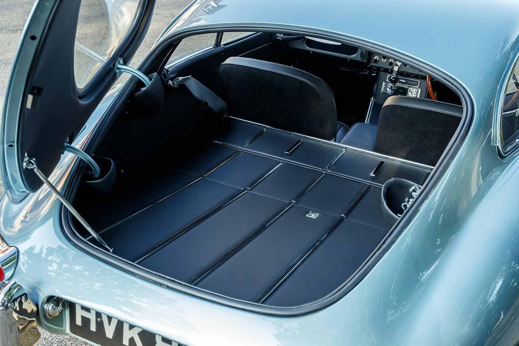 Luggage space in Jaguar Reborn E-Type