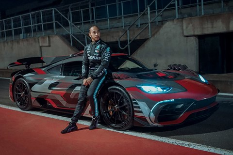 Mercedes AMG One with Lewis Hamilton