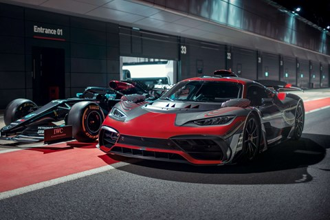 Mercedes AMG One with Mercedes-AMG W11