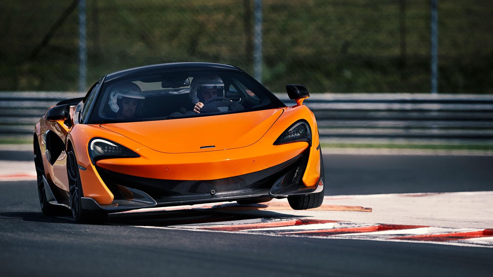 McLaren 600LT cornering