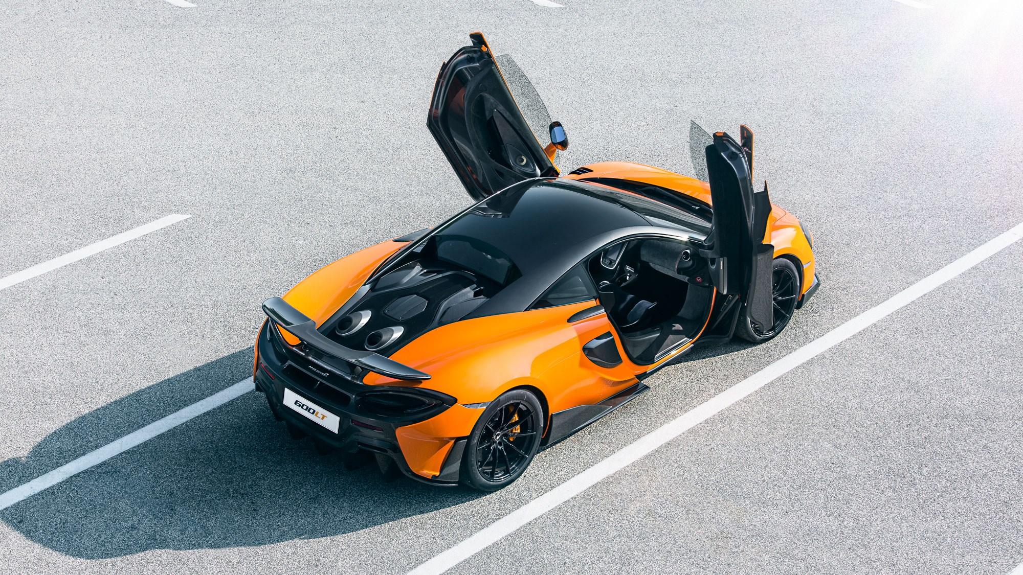 McLaren 600LT overhead rear