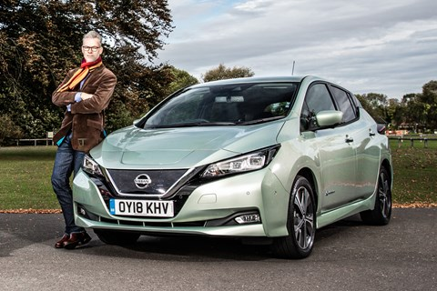 Nissan Leaf and CAR magazine's Ben Whitworth