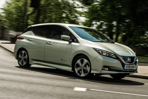 Nissan Leaf front city cornering