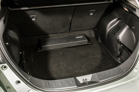 Nissan Leaf boot - and the Bose amplifier