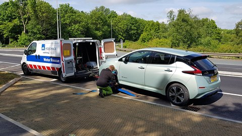 Nissan Leaf puncture