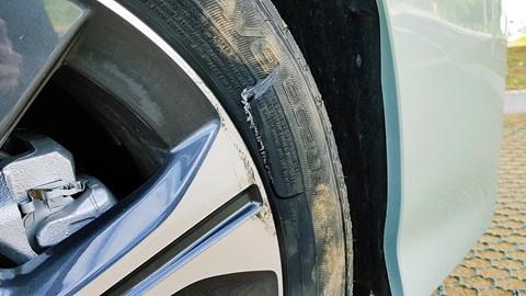 Nissan Leaf tyre: a Enasave EC300 punctured