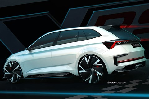 Skoda Vision RS sketch rear