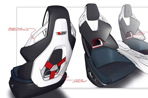 Skoda vision rs sketches seat