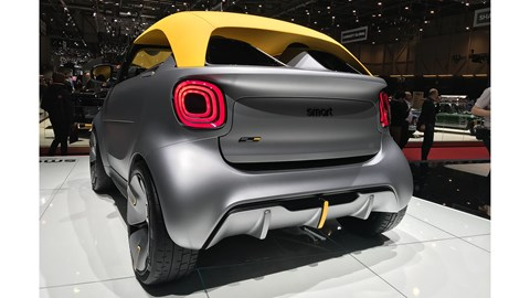 Smart Forease+ concept at 2019 Geneva motor show - rear view