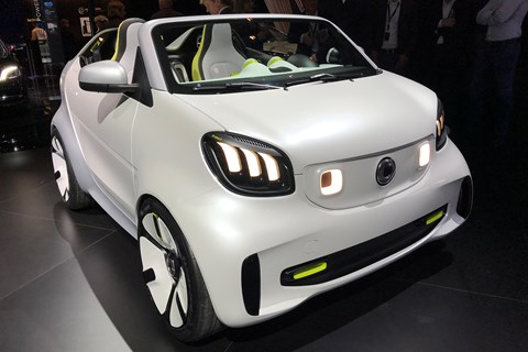 Smart Forease+ concept at 2019 Geneva motor show - front view