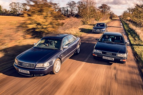 Three Audi A8 tracking