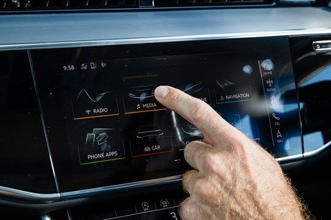 Audi MMI Touch on our A8 limousine: a clever touchscreen