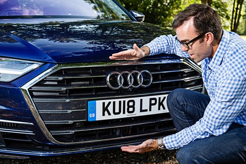 Tim Pollard and the MASSIVE grille on his Audi A8 limousine