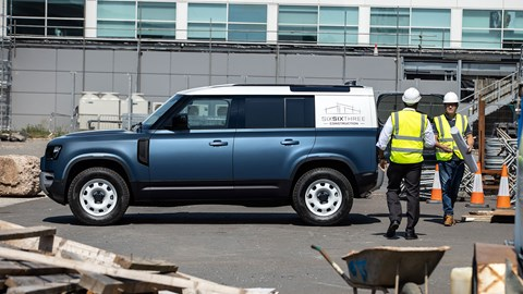Land Rover Defender Hard Top: the commercial van version