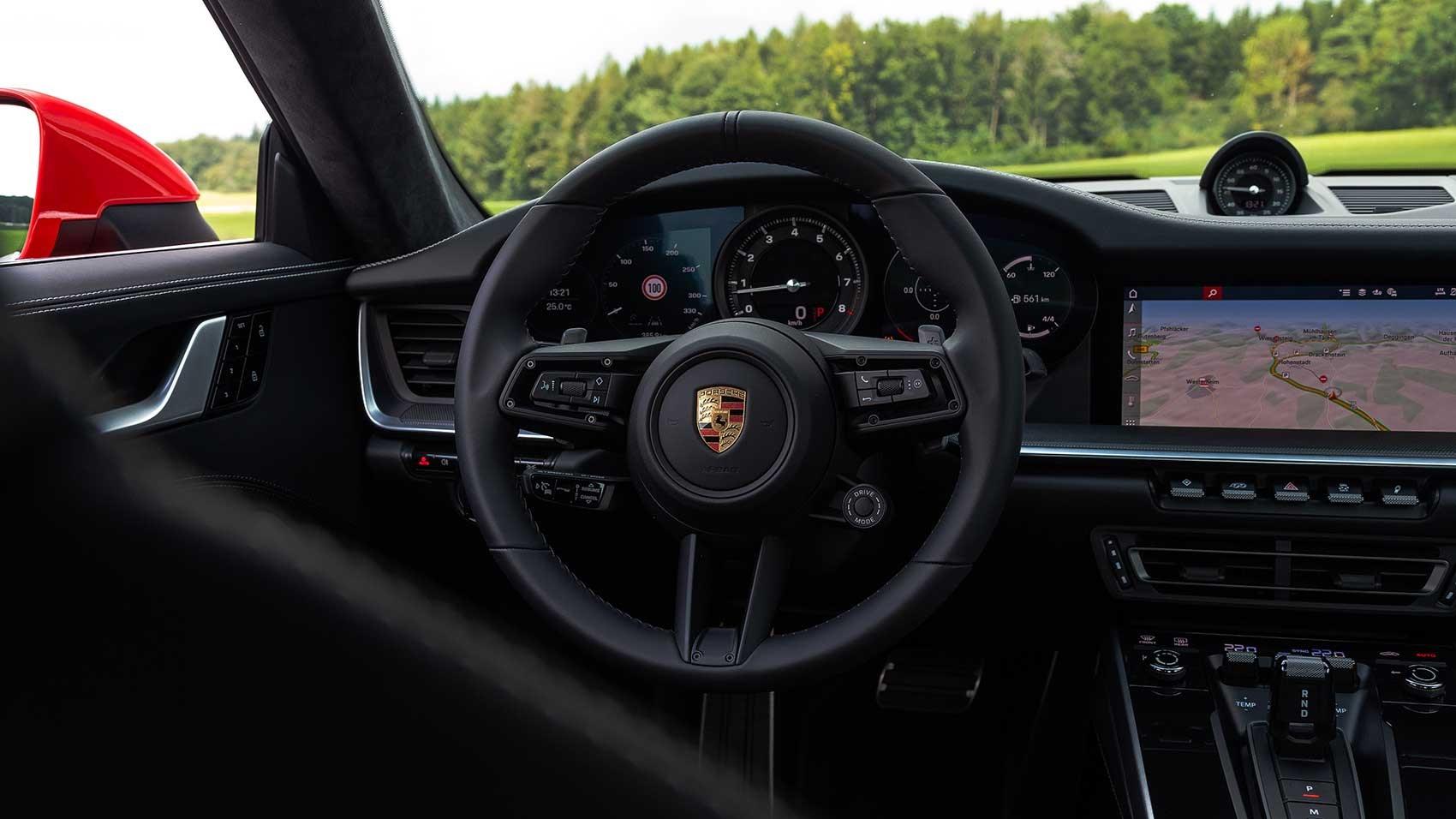 Porsche 911 Carrera 2 interior (new 992 generation)
