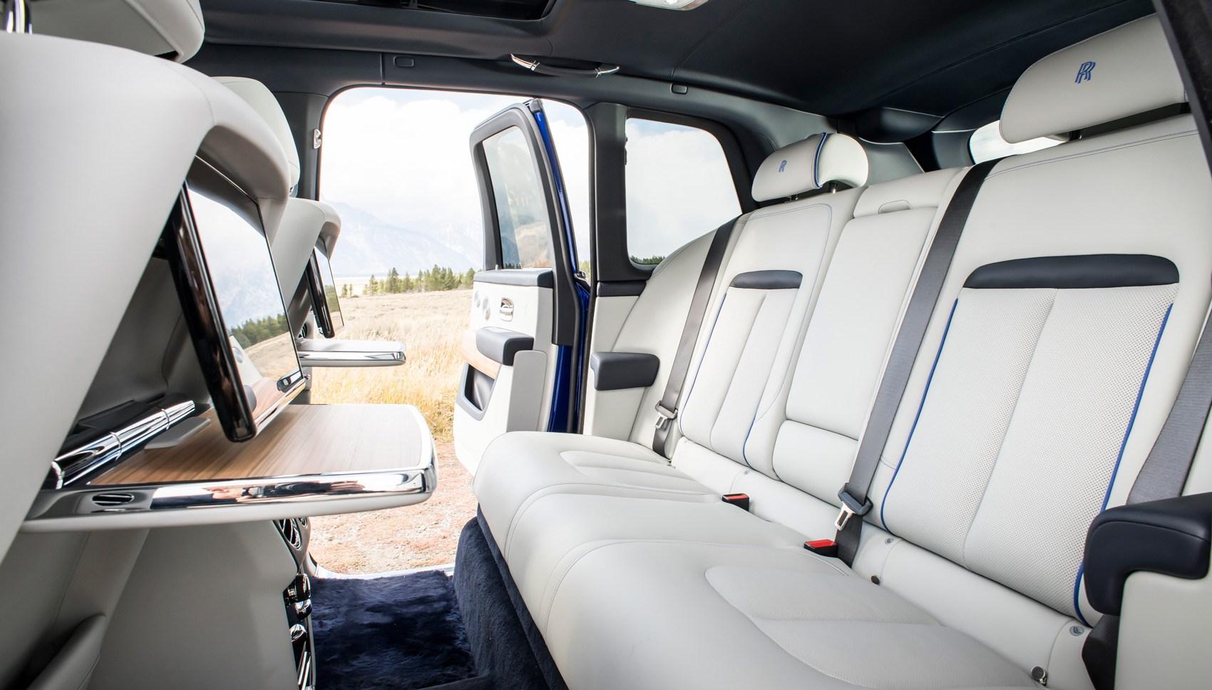 Rolls-Royce Cullinan rear seats