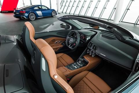 2018 Audi R8 spyder interior