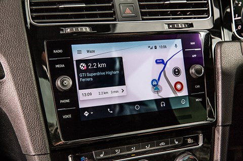 Waze GTI Superdrives screen