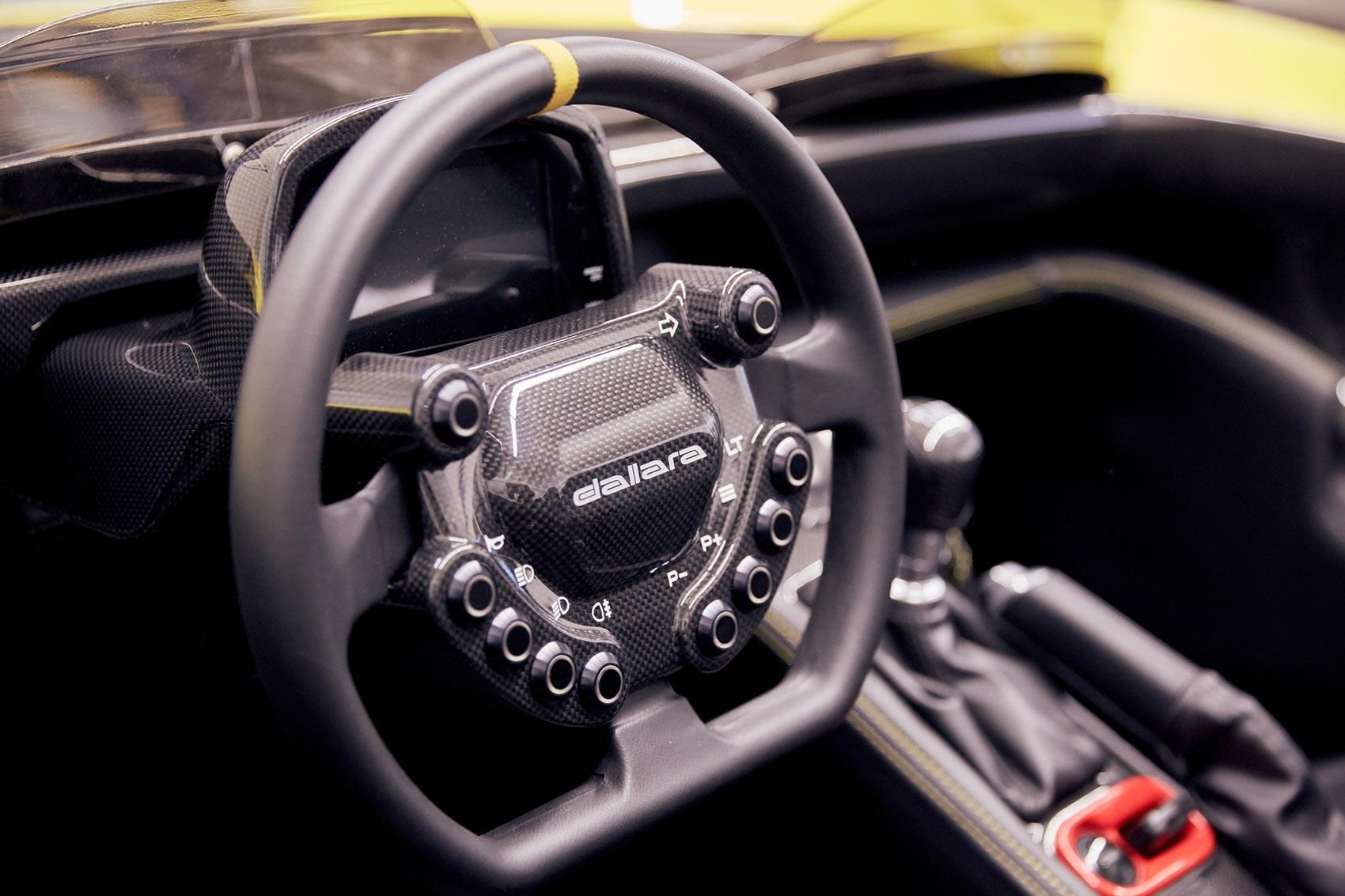 Dallara Stradale interior: a very focused cockpit