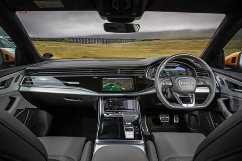 Audi Q8 interior and cabin