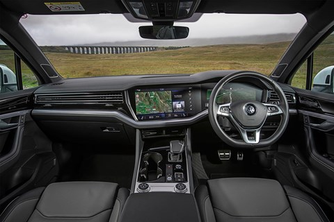 VW Touareg interior and cabin