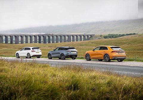 Take me to the bridge: our Audi Q8 vs Range Rover Velar vs VW Touareg triple test