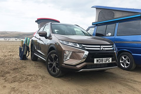 Mitsubishi Eclipse Cross on holiday