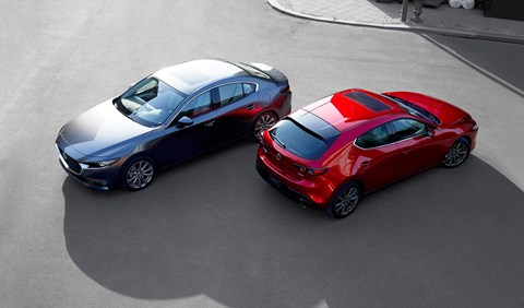 New Mazda 3 hatchback and saloon