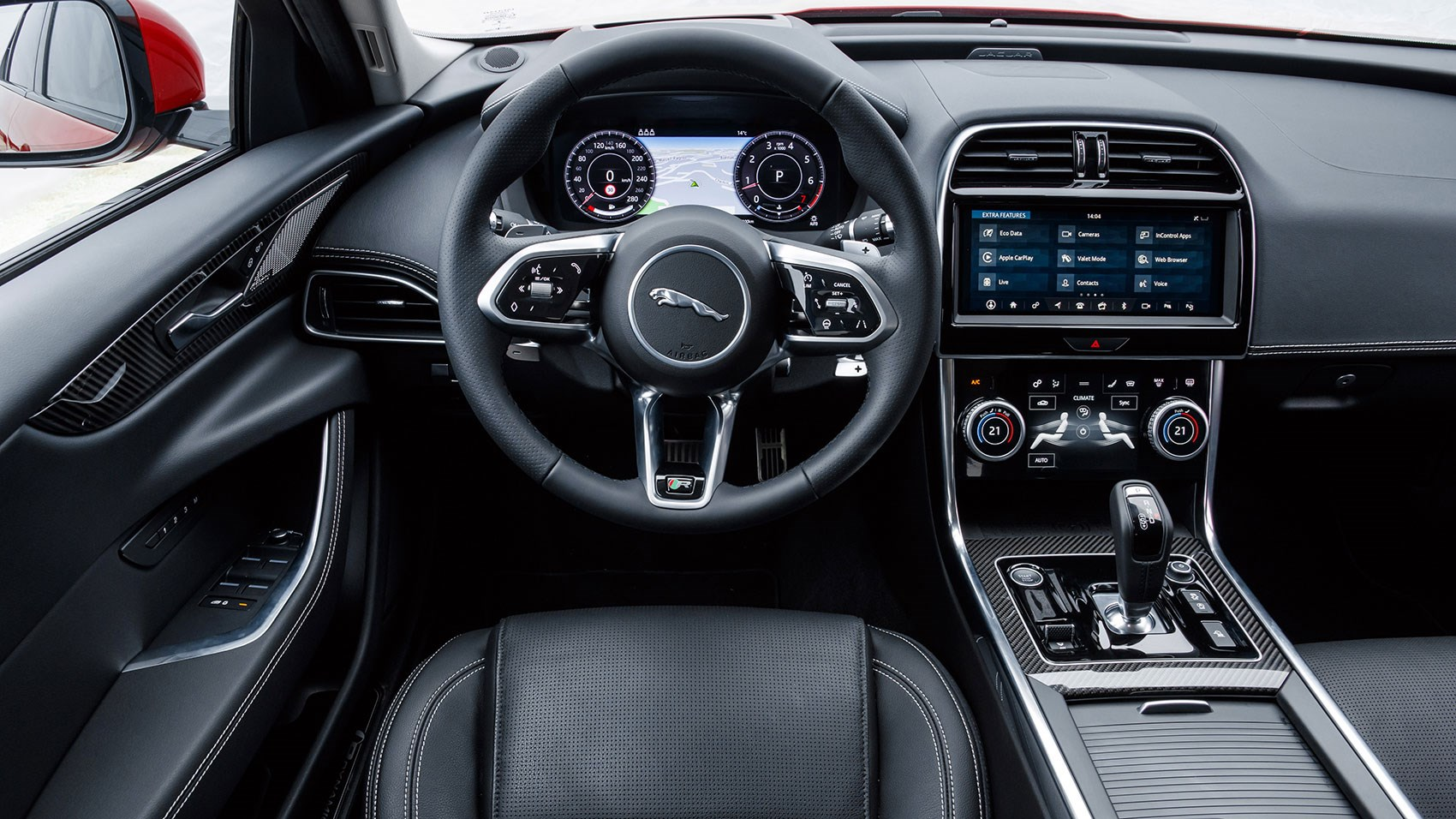 Jaguar XE saloon interior 2020 model year