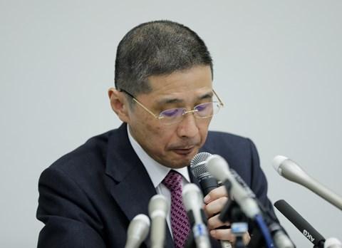 Hiroto Saikawa, Nissan president and CEO, spoke at a news conference in Yokohama, Japan