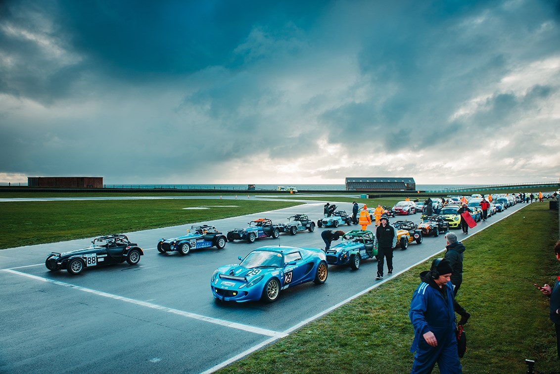 The grid for the 2018 Race of Remembrance. Plenty of Caterhams at the  pointy end of the grid ad1bf2f0c