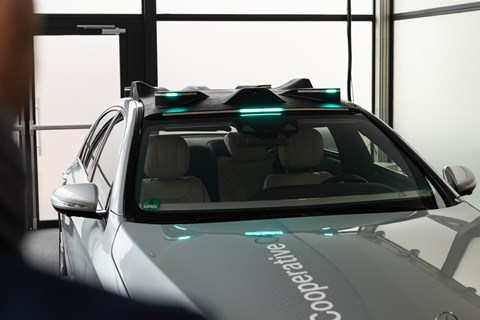 Mercedes Cooperative Car sensor array