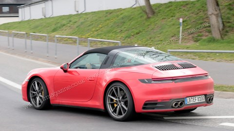 Porsche 992 Targa spy photos by CAR magazine UK