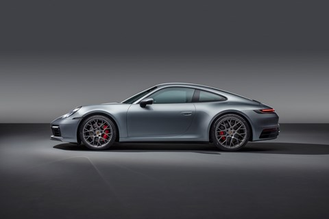 The new 2019 Porsche 911 Carrera S, the 992 generation in LA