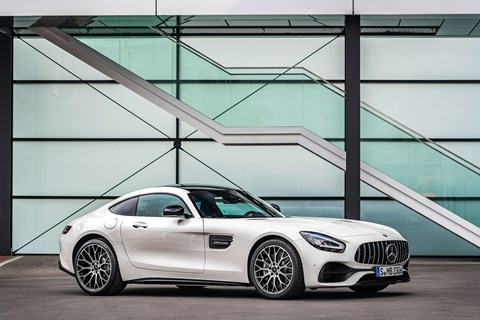 The facelifted Mercedes-AMG GT