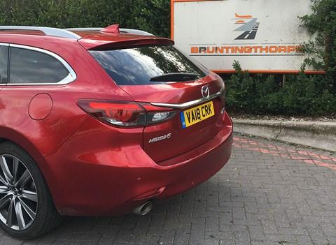 Our Mazda 6 Tourer visits Bruntingthorpe proving ground