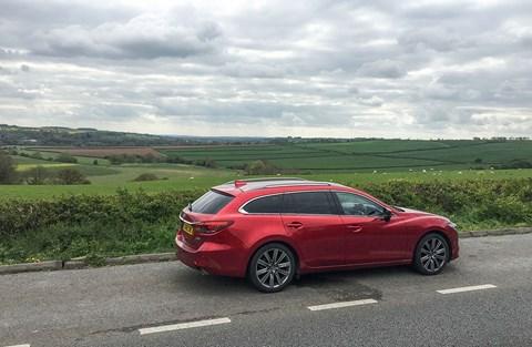 Our Mazda 6 Tourer on a break in Rutland