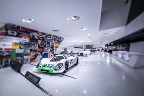 The first Porsche 917 was unveiled at the Geneva Motor Show on 12 March 1969