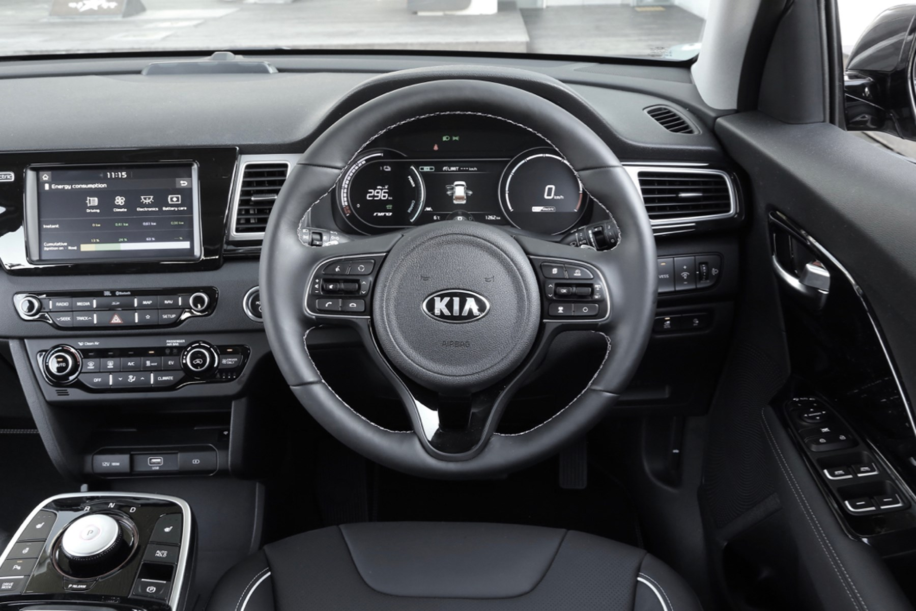 Kia E-Niro electric car EV interior