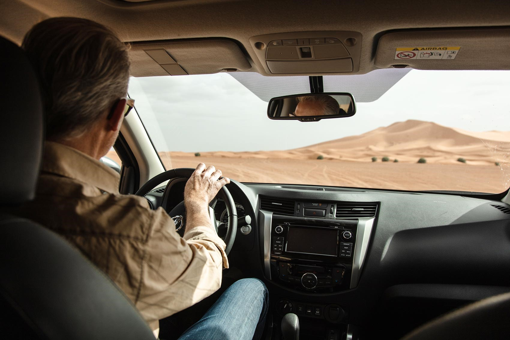 Ben Whitworth driving Nissan Navara in Moroccan desert