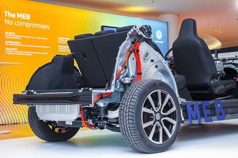 Electric Volkswagen cars: lots of space in EV package