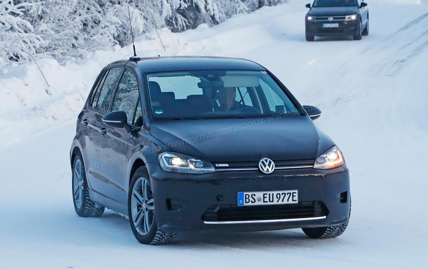 Our Spies Captured This Vw Golf Sv Test Mule A Hack For The Id Electric Car Family