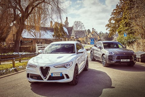 The verdict is in: CAR magazine tests the Alfa Romeo Stelvio vs Porsche Macan Turbo