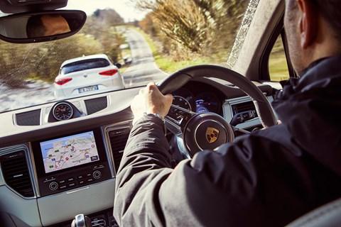 Porsche Macan interior: chasing down the runaway Alfa Romeo Stelvio QF