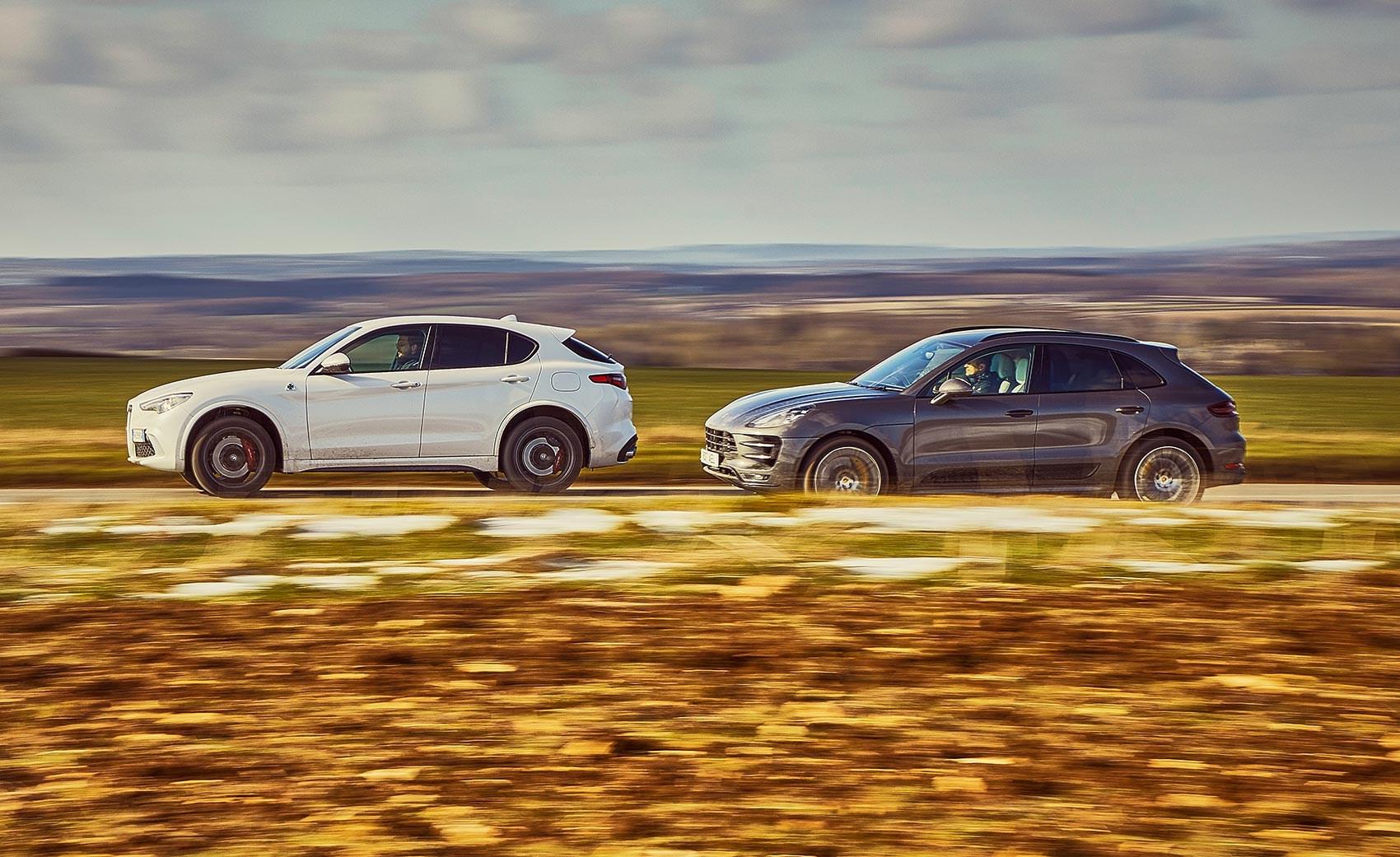Porsche Macan Vs Alfa Romeo Stelvio Twin Test Review Car Magazine
