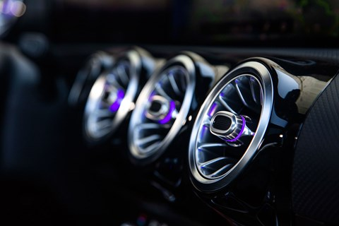 Mercedes-Benz A-Class funky air vents, including colour-coded lighting