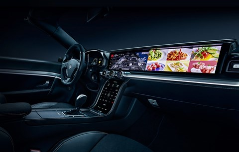 Huge widescreen interiors are planned by some car makers (NB this is not an Audi cabin)