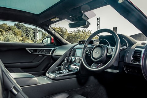 Jaguar F-Type P300 interior