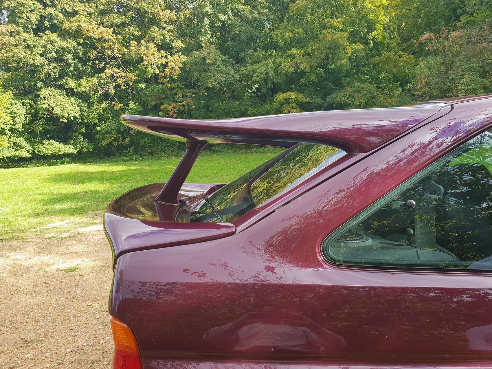 Ford Escort Cosworth Monte Carlo rear spoiler whale tail
